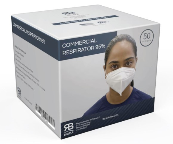 Domestically Made N-95 Respirator Mask - Pack of 50